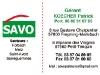 Carte de visites SAVO par www.22h43.fr