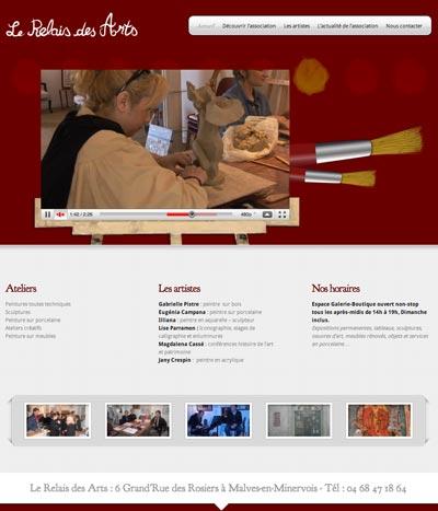 Site Internet + Vidéo pour «Le Relais de Arts»