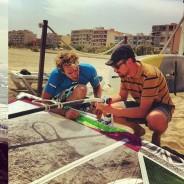 Tournage d'une vidéo pour un club de plage