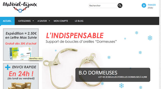 boutique vente matériel bijoux